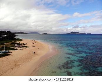 hawaii beach view sand and sky