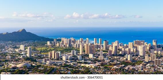 Hawaii city skyline
