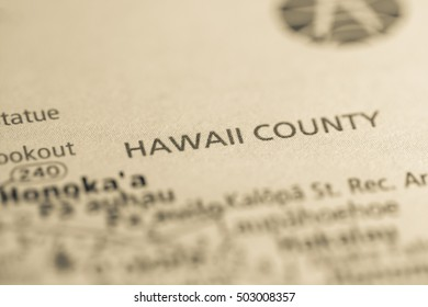 Hawaii County. Hawaii. USA