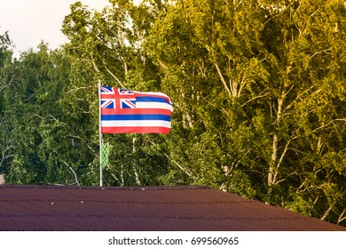 Hawaii flag on the roof
