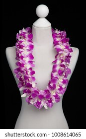Hawaii flowers lei necklace made from  Orchid Flower, Double Dendrobium Annina.