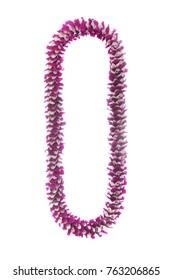 Hawaii flowers lei necklace made from  Orchid Flower Fancy Purple Lip (Pineapple)