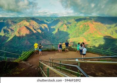 Hawaii, Island of kauai, Waimea Canyon, The Grand Canyon of The Pacific