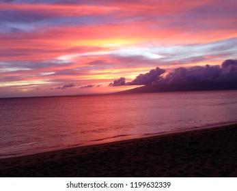 Hawaii Kaanapali Maui Sunset