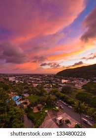 Hawaii Kai, HI, USA - March 9, 2019: Hawaii Kai is a largely residential area located in the City & County of Honolulu, in the East Honolulu.