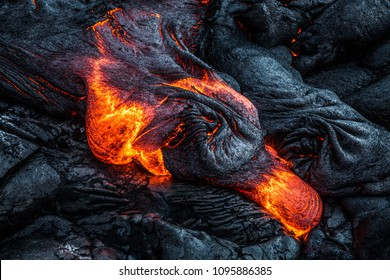 Hawaii Lava flow on the Big Island
