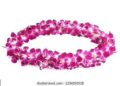 Hawaii Lei Garland from orchids of Thailand for Graduation Day