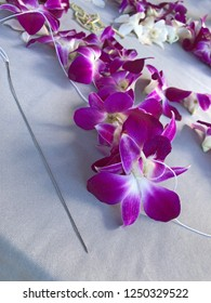 Hawaii: Making a Hawaiian Lei with fresh orchids