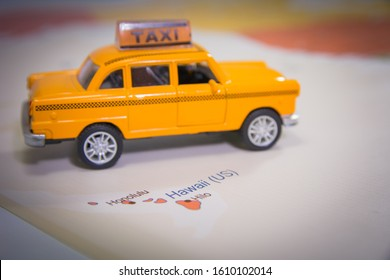 Hawaii Map with Travel Taxi Toy Discover Hawaii Travel Hawaii