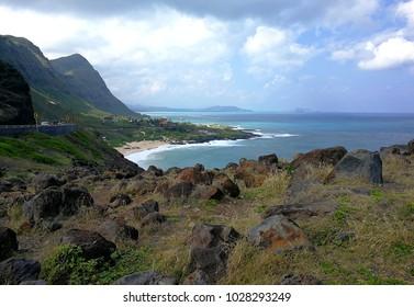 Hawaii Oahu Hayau Makapuu Observatory Landscape Sky and the sea