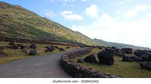 Hawaii Oahu HEIAU Makapuu Observatory Landscape