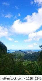 Hawaii Oahu Nuuanu Pari Lookout View Landscape