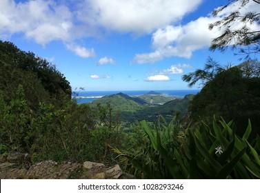 Hawaii Oahu NuuanuPari Lookout View Landscape