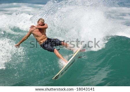 99a595c749 Hawaii - Oct. 29  Pro surfer Flynn Novak executes a nice carve during the