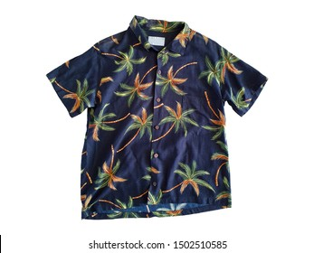 Hawaii shirt isolated on white background with clipping path.