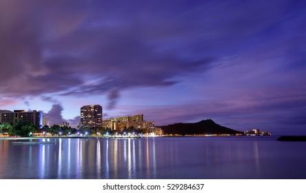 Hawaii skyline at sunrise