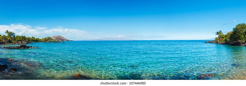 Hawaii Tropical Ocean Panorama, Maui, HI