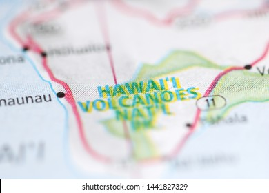 Hawai'i Volcanoes NP on a geographical map of USA