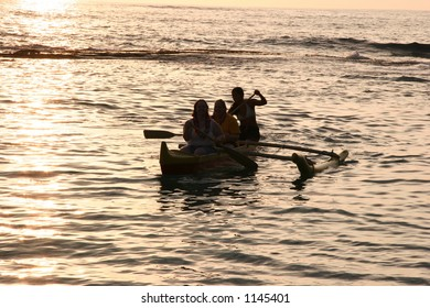 Hawaiian canoe ride