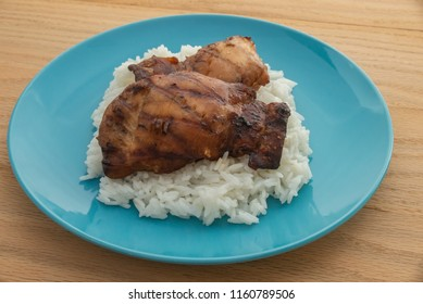 hawaiian chicken on a bed of rice