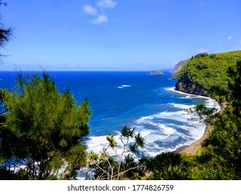Hawaiian cliffs on the Big Island