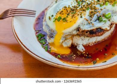 Hawaiian Food Loco Moco (Eggs and Burger Meat)