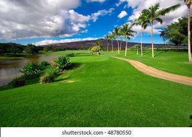 Hawaiian golfing