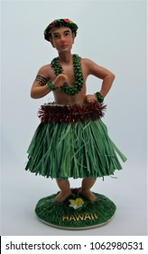 Hawaiian Hula Male Doll in a Grass Skirt
