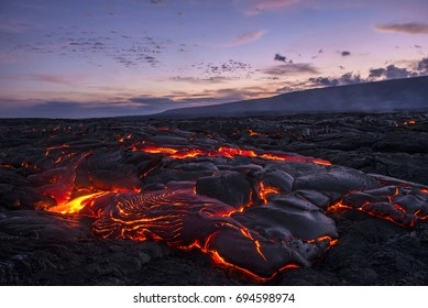 hawaiian lava sunset