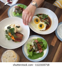 Hawaiian Loco Moco, Kalua Pork Belly and Spam Musubi