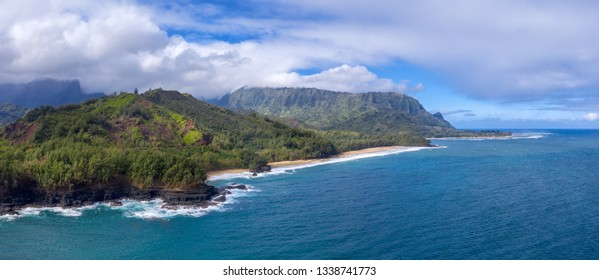 Hawaiian mountains and ocean