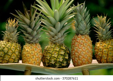 Hawaiian pineapples background