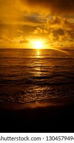 Hawaiian Sunset by Kamehameha Highway
