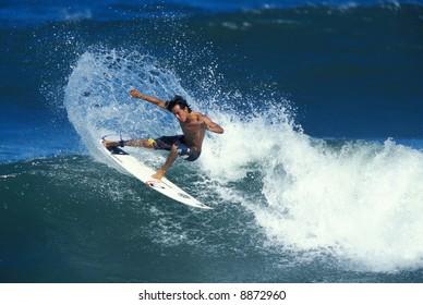 Hawaiian surfer Gavin Gilette