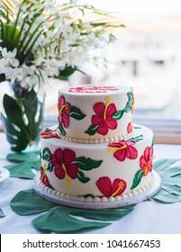 Hawaiian theme party cake