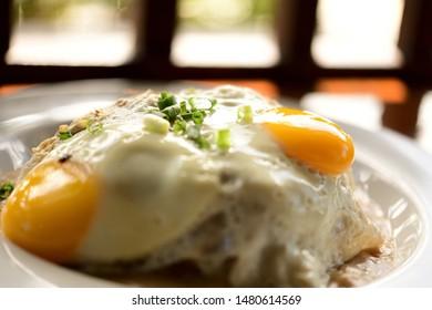 Hawaiian traditional  egg food Loco Moco