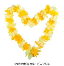 Hawaiian wreath in the shape of heart