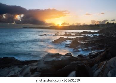 Hawea Point, Kapalua, Maui, during sunrise