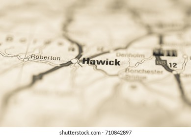 Hawick on map.