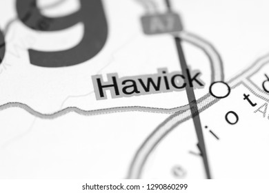 Hawick. United Kingdom on a map