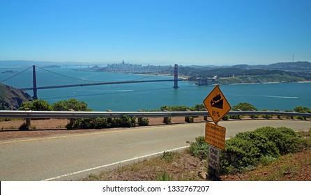 Hawk Hill Golden Gate Bridge San Francisco