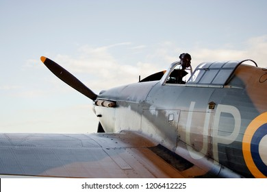 Hawker Hurricane before flight. - Shutterstock ID 1206412225