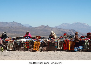 Hawkers in Colca Canyon
