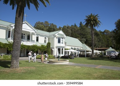 HAWKES BAY NORTH ISLAND NEW ZEALAND - CIRCA 2015 - Mission Estate Winery at Tradable in the Hawkes Bay region North Island New Zealand