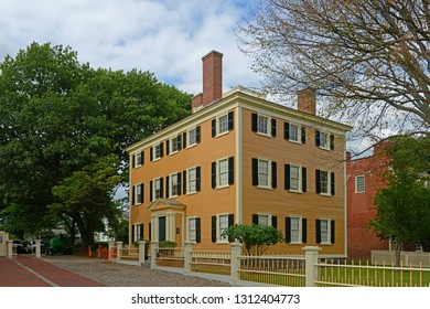 Hawkes House in Salem Maritime National Historic Site in Historic downtown Salem, Massachusetts, USA.