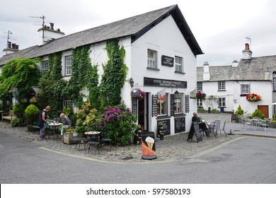 HAWKSHEAD, UK-25 JULY 2016- The small village of Hawkshead in the Lake District region of Cumbria, England,  is a major tourist attraction because of its links to famed author Beatrix Potter.