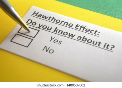 Hawthorne effect: do you know about it? yes or no