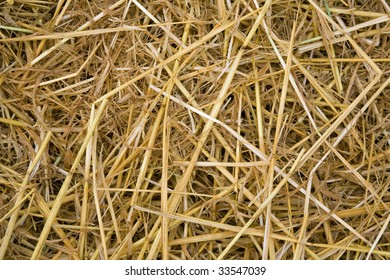 Hay as a background
