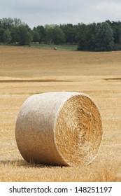 Hay Bale Roll in Field