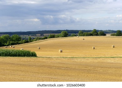 hay bales in the Eifel